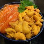 49824871 - ウニ・サーモン丼