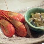 シロクマ食堂 - 甘エビと松前珍味