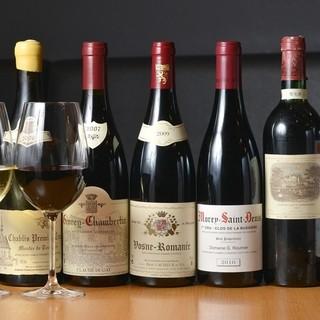 コスパ抜群!!20種類以上のワイン飲み放題