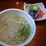 いち川 - 食事:冷し茶漬け