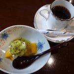 いち川 - デザートとコーヒー