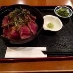 牛カツ東京 - 牛とろ丼にしてみました!