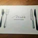METoA Cafe & Kitchen - ランチョンマット!