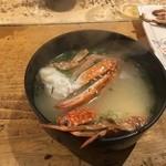 上野 アメ屋横丁 トロ函 - 蟹汁