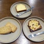 スミス - 料理写真:左:サブレナチュール 右:ケイクフリュイ  上:ウィークエンドシトロン