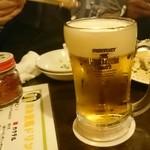 焼肉・塩ホルモン 三ちゃん - ルービー生