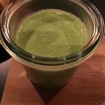 49837481 - 前菜1:ブロッコリーのポタージュ コンソメジュレ・ブロッコリーと蟹のサラダ