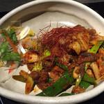 Gyararishioriya - 牛スジと九条ネギのピリ辛キムチ炒め