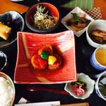 豚八 - ランチ 肉 (鹿児島黒豚のロールキャベツ) 1080円