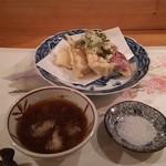 先斗 浅草 - 天ぷら(筍、紅芋、烏賊)