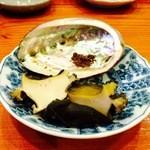 49843686 - 徳島の蒸し鮑海藻塩で♪