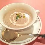 ピッツェリア・サバティーニ - マッシュルームとジャガイモのポタージュスープ
