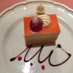 ピッツェリア・サバティーニ -  ブラッドオレンジとミルクチョコレートのムース