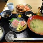 49845465 - 金目鯛刺身、煮付け定食