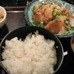 九州 熱中屋 - 胡麻ブリ定食 2016.4