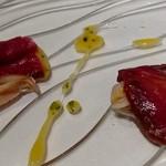l'adour - 料理写真:2016年4月 ヴェネト産馬肉のハムと蛤
