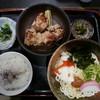 晃庵 - 料理写真:鶏から揚げとうどん(冷)950円