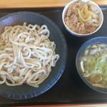 49858147 - Dネギ塩+豚バラ丼(ミニ)