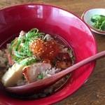 49858915 - 麹に漬けて焼いた銀鮭のお茶漬け 醤油いくら添え(2016.4.16)