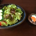 49859457 - 地鶏ステーキ定食のサラダと香の物