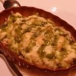 エイチツー クッキング - 「焼きポテトサラダ」です。バジルの香りが素晴らしい。