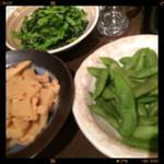 木村屋本店 - おひたし・筍の土佐煮・枝豆