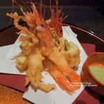 海鮮個室居酒屋 魚久 - 蟹の天ぷら