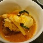 焼肉 コチカル - 豆腐チゲ取り分け後