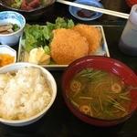 49864807 - 朝定食・・ハムカツ定食630円