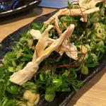 ほじゃひ~本格お好み焼きと広島地酒の店~ - 蒸し鶏と観音ネギ