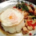 ケーラン - 料理写真:「カーオ・ガパオ・タレー・カイダーオ」¥1,200 シーフードのホーリーバジル炒めご飯