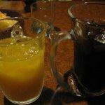 びっくりドンキー - オレンジジュース&コカコーラ