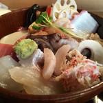 魚て津 - ランチちらし1500円