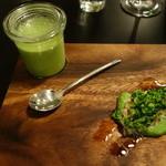 49870917 - ブロッコリーのポタージュと蟹サラダ