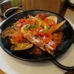 ラ オリーバ - いろいろ魚介とフルーツトマト(¥1,900−)