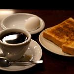 コーヒー専門店 ライオン - ホットコーヒーとモーニングのセットです。