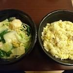 中華料理五十番 - エビあんかけ焼きそばとチャーハン