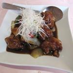 49876803 - 黒豚ロース肉山芋の黒酢ソース