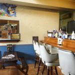 EMPORIO cafe&dining - 木のベンチ