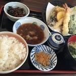 さか本 そば店 - お昼のそば屋の天ぷら定食