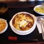キッチンヒマラヤ - 焼きカレードリア定食(860円)