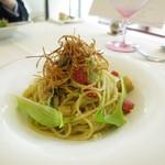 リストランテ ウミリア - 季節野菜の菜園風 スパゲティーニ (Apr.2016)