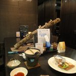 4988639 - 原木椎茸付き囲炉裏料理