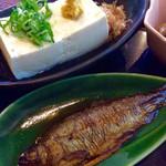 清九郎 - 名水とうふと魚の甘露煮。