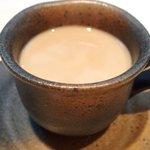 49881378 - ランチセット 1000円 のカフェオレ