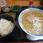理尾レストラン - ラーメンライス定食 800円 2016/3
