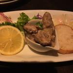 49888106 - 3種盛り(馬タテガミのラルド、カキのオイルマリネ、本日のカルパッチョ) ¥950
