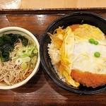 49893747 - かつ丼とそば(小)¥650