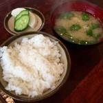 かつ政 - H28.04.17 ご飯・味噌汁・お新香