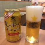 関緑ヶ丘食堂 - 発泡酒(まぁ上手に注げた?)